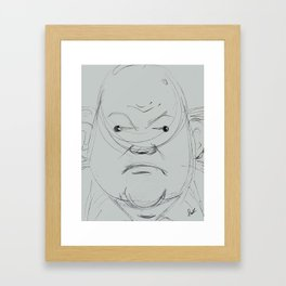 The Grump Framed Art Print