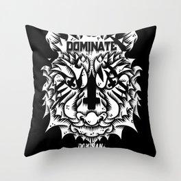 Satanic tiger Throw Pillow