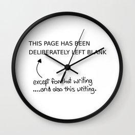 Left blank Wall Clock