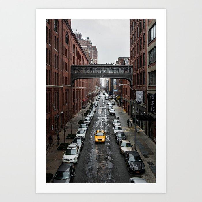 Iconic New York Taxi Art Print