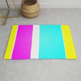 Spring Themed Candid Pastel Colored Stripes Artwork Rug