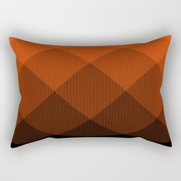 Orange to Black Ombre Signal Rectangular Pillow