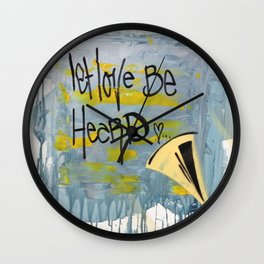 Let Love Be Heard! Wall Clock