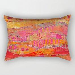 Firewalk Abstract Art Collage Rectangular Pillow