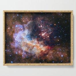 Space Nebula Galaxy Stars | Comforter Serving Tray