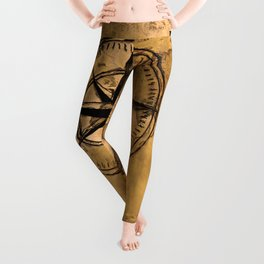 Destinations - Compass Rose and World Map Leggings