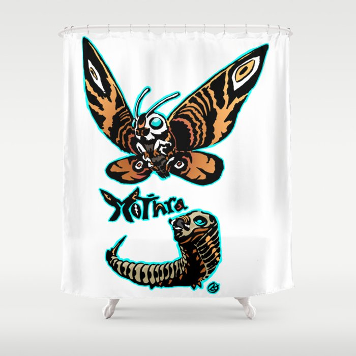 Mothra Kaiju Print FC Shower Curtain