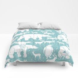 Polar gathering (peppermint) Comforters