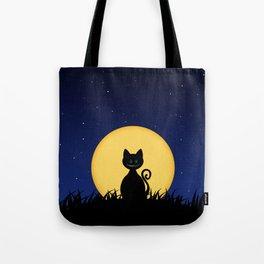 Halloween Cat Tote Bag