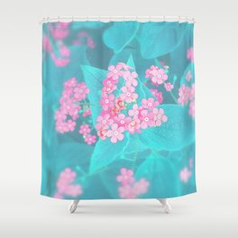 Forget Me Knot - Pink Heart little flowers Shower Curtain