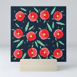 Red flowers  Mini Art Print