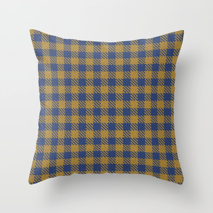 Abercrombie, Alpine, Resolution Blue, Camel, Plaid Throw Pillow