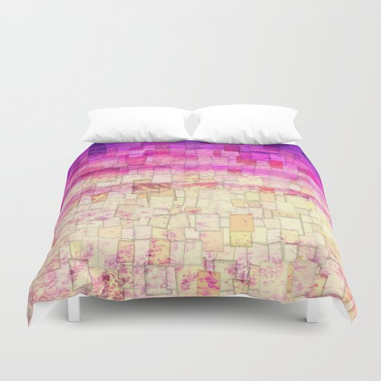 Pink Sea Mosaic Duvet Cover