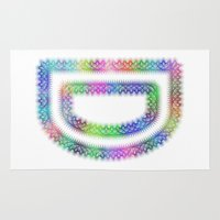 letter Area & Throw Rugs featuring Letter D by David Zydd