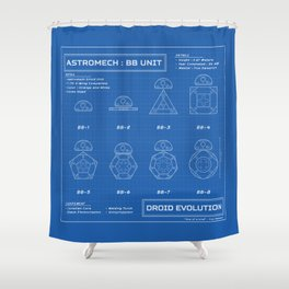 Astromech Evolution Shower Curtain
