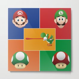 Mario Party Metal Print