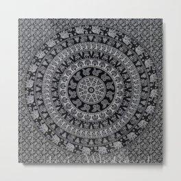 Elephant Mandala pattern Metal Print