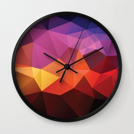 Abstract geometric triangle background Wall Clock