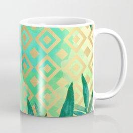 Pattern geometric gold and leaf Coffee Mug