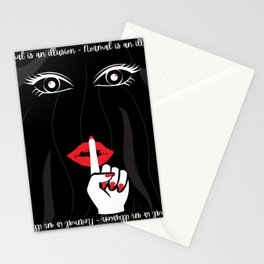 Normal Is An Illusion Stationery Cards