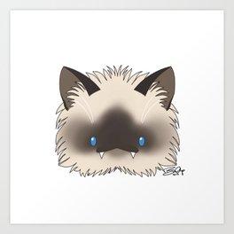 Spoopy Birman Kitty disguise! Art Print
