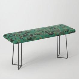 Emerald Leopard Bench