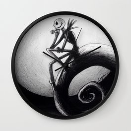 Melancholic moon Wall Clock