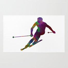 Downhill skier Rug