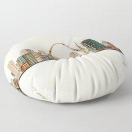 saint louis skyline Floor Pillow