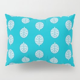 Toothed Margin Foliage Pattern Pillow Sham