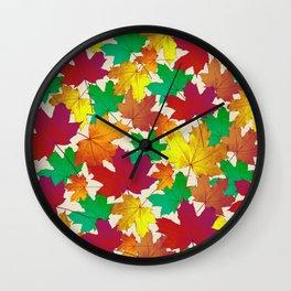 Maple Shades Wall Clock