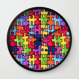Jiggy puzzle Wall Clock