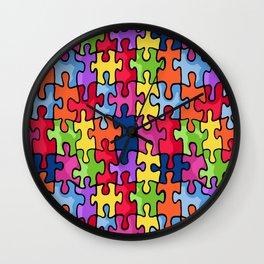 Jiggy puzzle Wall Clock