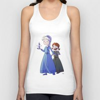 frozen Tank Tops featuring Frozen by Kaori