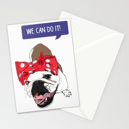 We Can Do it! Rosie the Bulldog Stationery Cards