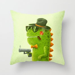 Dino bandito Throw Pillow