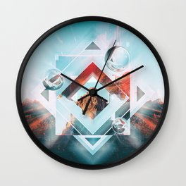 Abstract Geometric Collage I Wall Clock