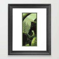 Dinosaur Roaming Framed Art Print