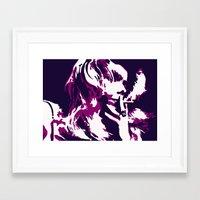 rock n roll Framed Art Prints featuring Rock 'n' Roll Suicide by Jasz Schneider