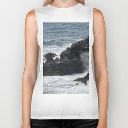 Waves Crashing on the Coast Biker Tank