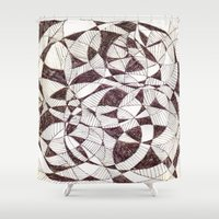 fibonacci Shower Curtains featuring Life is Circular  by PlanetLOUDville