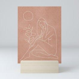 Engraved Nude Line I Mini Art Print