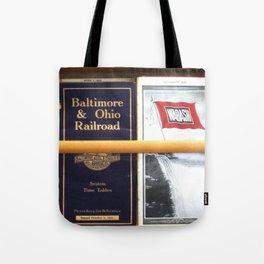 Original Early 1900s American Train Time Tables (RARE) Tote Bag