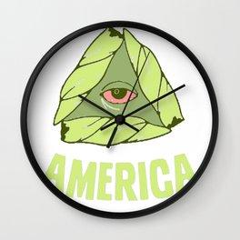 BAKE UP AMERICA T-SHIRT Wall Clock