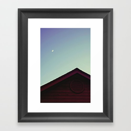 The Moon and The Red House Framed Art Print