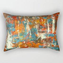 An Oasis In A Desert Abstract Painting Rectangular Pillow