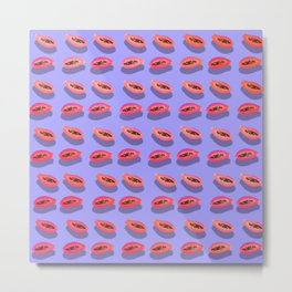 """Pink over violet, tropical papaya"" Metal Print"