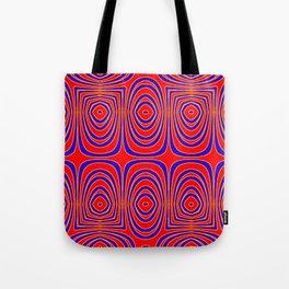 Neon Red Yellow Abstract Bullseye Design Tote Bag