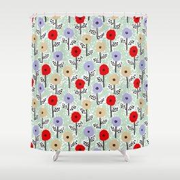 Vintage Meadow by Veronique de Jong Shower Curtain
