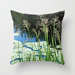 Laky Garden Throw Pillow